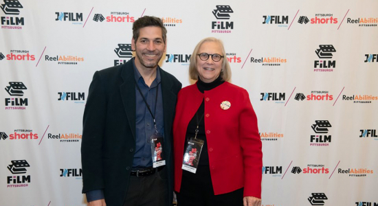 Pat Ulbrich & Will Zavala after screening 'Changing the Want Ads' at the Pittsburgh Shorts Film Festival